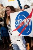 Ann Arbor Michigan 2018 Women`s March. On Saturday, January 20th, 2018, unite in Ann Arbor to rally again!! In response to overwhelming demand, the organizers of Royalty Free Stock Photo