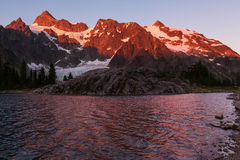 Ann lake. And mt.Shuksan, Washington stock photo