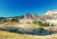 Ann lake. And mt.Shuksan, Washington stock image