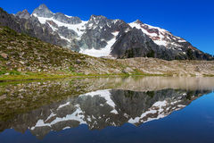 Ann lake. And mt.Shuksan, Washington royalty free stock images