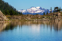 Ann lake. And mt.Shuksan, Washington stock photography