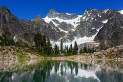 Ann lake. And mt. Shuksan, Washington royalty free stock photo