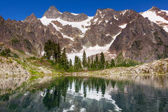 Ann lake. And mt. Shuksan, Washington stock image