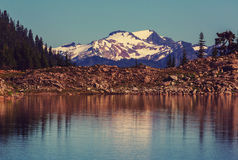 Ann lake. And mt. Shuksan, Washington stock photos