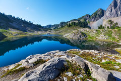Ann lake. And mt. Shuksan, Washington stock photo