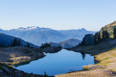 Ann lake. And mt. Shuksan, Washington royalty free stock photos