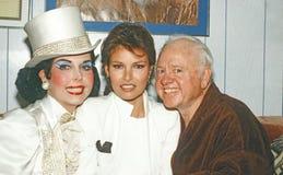 Ann Miller, Raquel Welch e Mickey Rooney immagine stock