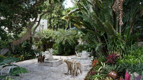 Ann Norton Sculpture Gardens em West Palm Beach, Florida Imagem de Stock Royalty Free