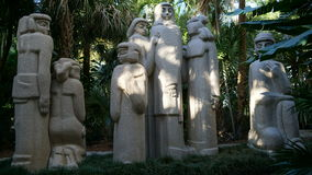 Ann Norton Sculpture Gardens konstarbeten, West Palm Beach, Florida arkivfoto