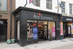 Ann Summers-opslag royalty-vrije stock afbeelding