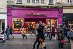 Ann Summers-winkel in de stad van Bad stock foto's