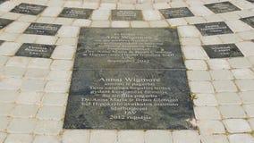 Ann Wigmore monument stock photo