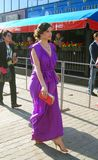 Anna Azarova no festival de película internacional de Moscovo Fotos de Stock