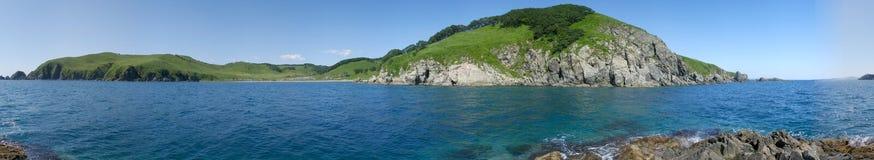 Anna bay. Near Vladivostok panorama Royalty Free Stock Image