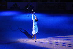 Anna Bessonova à la cuvette de Deriugina Photos stock