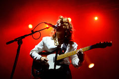 Anna Calvi (band) live performance at Bime Festival Royalty Free Stock Images