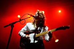 Anna Calvi (musikband) levande kapacitet på den Bime festivalen Royaltyfria Bilder
