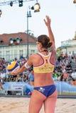 Anna Dalmazzo portion i kvartsfinaler av utmaningen för Ljubljana strandsalva Royaltyfria Foton