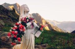 ` Anna de Vinadio, rocha de Sant da aparição Piedmont, Itália fotos de stock
