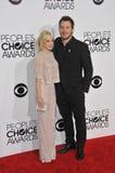 Anna Faris & Chris Pratt Στοκ Εικόνα