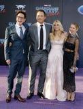 Anna Faris, James Gunn, Chris Pratt και Jennifer Ολλανδία Στοκ Εικόνες