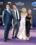 Anna Faris, James Gunn, Chris Pratt και Jennifer Ολλανδία Στοκ φωτογραφίες με δικαίωμα ελεύθερης χρήσης