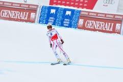 Anna Fenninger sulla tazza di mondo alpina del pattino di FIS 2011/2 Immagini Stock