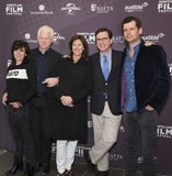 Anna Freud, Richard Curtis, Evelyn Colbert, Stephen Colbert e Luke Parker Bowles Fotografia de Stock