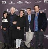 Anna Freud, Richard Curtis, Evelyn Colbert, Stephen Colbert en Luke Parker Bowles Stock Fotografie