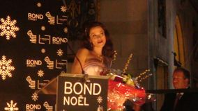 Anna Friel. At the christmas event in london Bond noel november 2009 Royalty Free Stock Photos