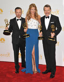 Anna Gunn et Aaron Paul et Bryan Cranston Photos stock