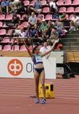 ANNA HALL de V.S., Amerikaanse spoor en gebiedsatleet op heptathlongebeurtenis in de IAAF-Wereld U20 royalty-vrije stock fotografie