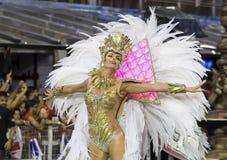 Anna Hickmann - χορευτής Βραζιλία Samba μουσών καρναβαλιού Στοκ εικόνες με δικαίωμα ελεύθερης χρήσης