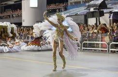 Anna Hickmann - χορευτής Βραζιλία Samba μουσών καρναβαλιού Στοκ εικόνα με δικαίωμα ελεύθερης χρήσης