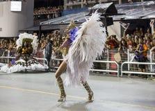 Anna Hickmann - χορευτής Βραζιλία Samba μουσών καρναβαλιού Στοκ Εικόνες