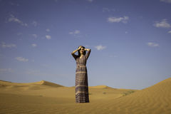 Anna im Rub& x27; Al Khalli-Wüste Stockfoto