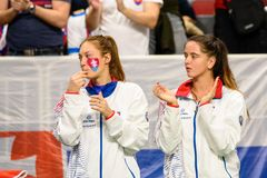 Anna Karolina Schmiedlova i Viktoria Kuzmova obraz stock