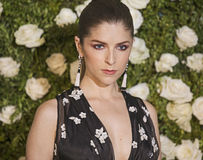 Anna Kendrick. Glamorous actress Anna Kendrick arrives on the red carpet at Radio City Music Hall for the 71st Annual Tony Awards celebrating excellence in Stock Photography