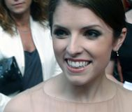 Anna Kendrick at a movie premiere. A picture of  the actress anna kendrick at the movie premiere of the film  how to expect when you are not expecting  in london Royalty Free Stock Photos