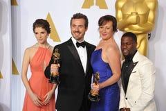 Anna Kendrick & Patrick Osborne & Kristina Reed & Kevin Hart royaltyfria foton