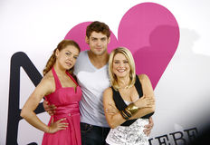 Anna and Love. AUGUST 18, 2008 - BERLIN: Karolina Lodyga, Roy Peter Link, Jeanette Biedermann during a photocall for the upcoming start of the new tv production Stock Photos