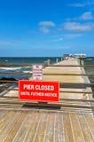 Anna Maria City Pier Closed imagem de stock