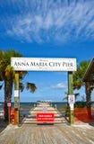 Anna Maria City Pier Closed imagens de stock