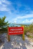 Anna Maria City Pier Closed fotografia de stock royalty free