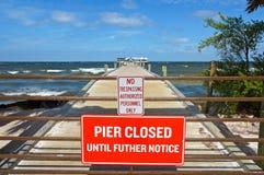 Anna Maria City Pier Closed imagens de stock royalty free