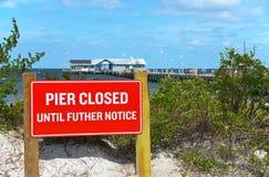 Anna Maria City Pier Closed fotografia de stock
