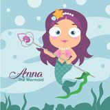Anna the Mermaid royalty free illustration