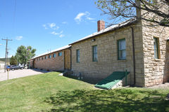 Anna Miller Museum. NEWCASTLE, WYOMING - JUNE 23, 2017: Anna Miller Museum. Housed in the Wyoming Army National Guard Cavalry Stable, the last calvary stable in Stock Photos