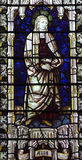 Anna, mother of Mary in stained glass Stock Photos