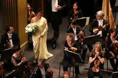 Anna Netrebko an Theater-DES Champs-Elysees, Paris, kann 10, 2015 Stockfotografie